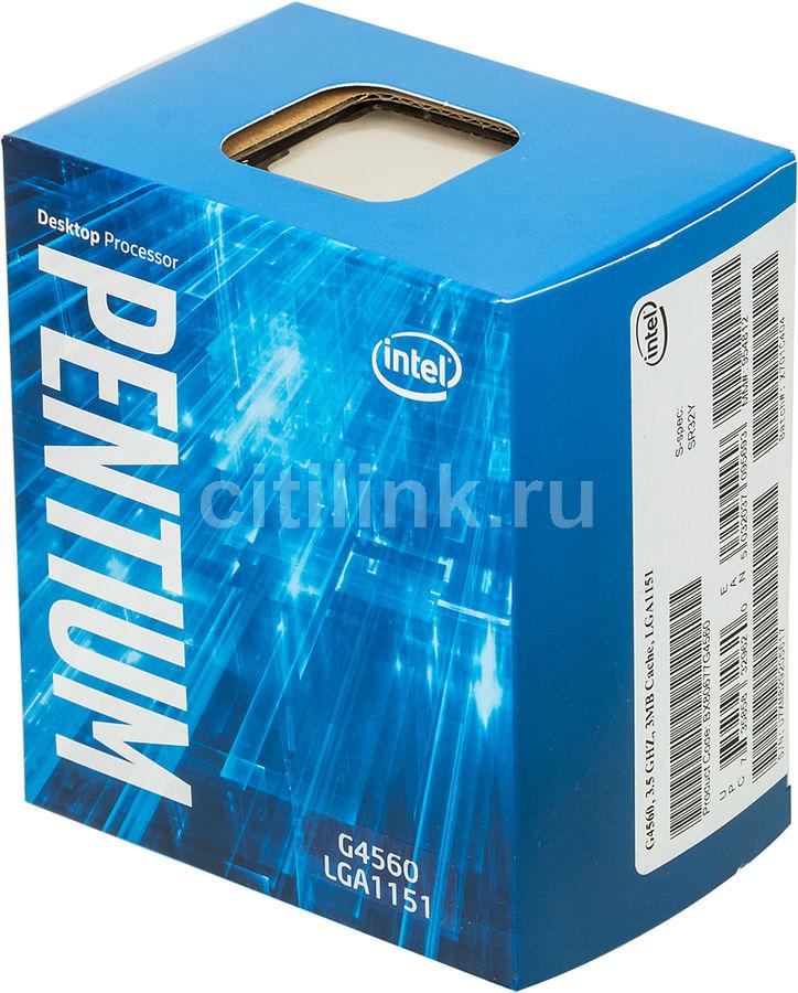 Процессор INTEL Pentium Dual-Core G4560, LGA 1151 BOX [bx80677g4560 s r32y]