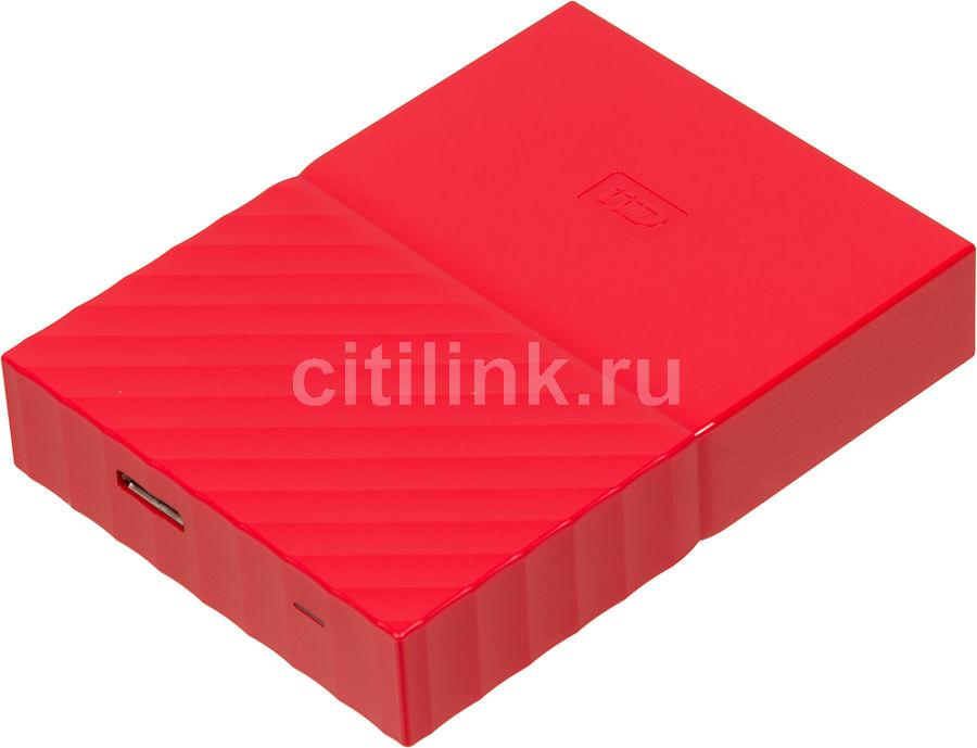 Внешний жесткий диск WD My Passport WDBUAX0020BRD-EEUE, 2Тб, красный