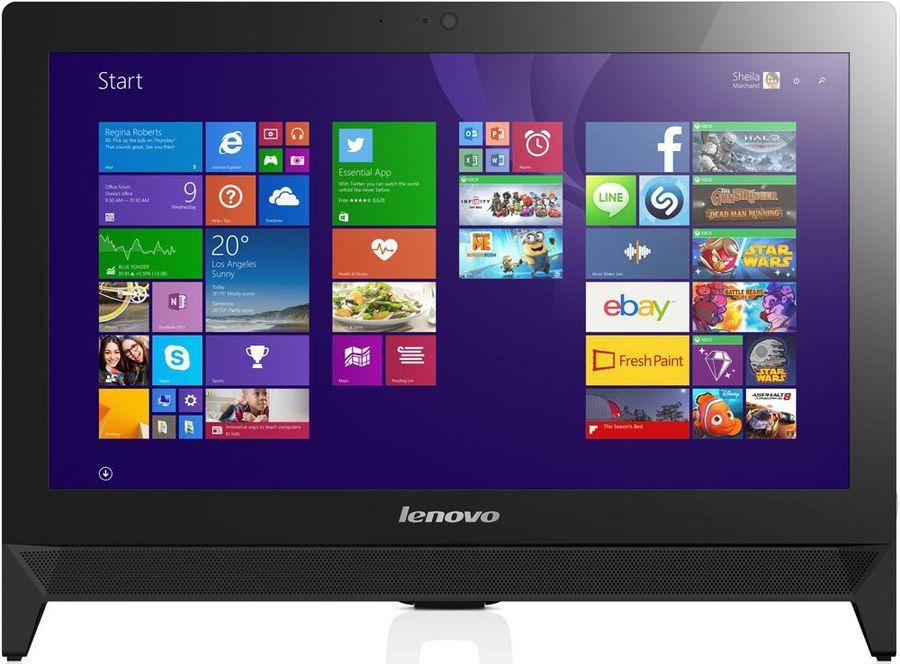 Моноблок LENOVO C20-00, Intel Pentium J3710, 4Гб, 500Гб, Intel HD Graphics 405, DVD-RW, Windows 10, черный [f0bb00t7rk]
