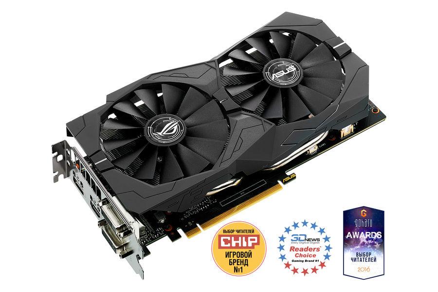 Видеокарта ASUS GeForce GTX 1050,  STRIX-GTX1050-2G-GAMING,  2Гб, GDDR5, Ret