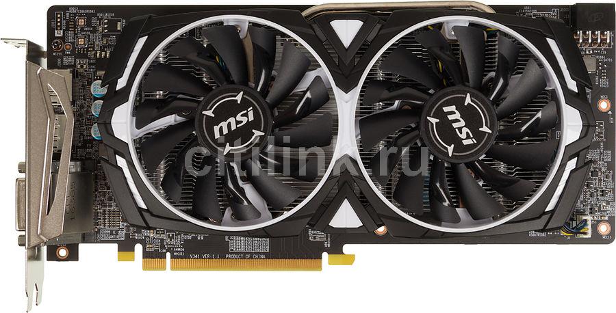 Видеокарта MSI Radeon RX 480,  RX 480 ARMOR 4G OC,  4Гб, GDDR5, Ret