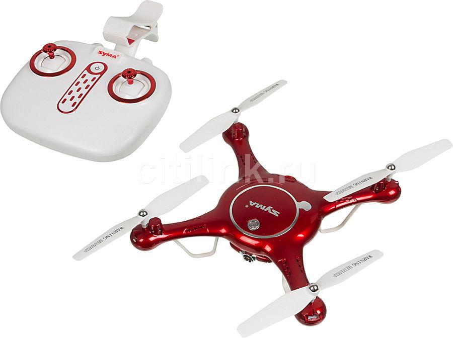 Квадрокоптер SYMA X5UW с камерой,  красный