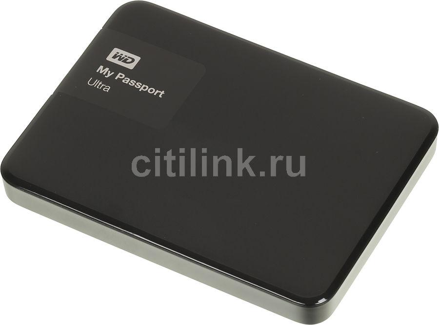 Внешний жесткий диск WD My Passport Ultra WDBBRL5000ABK-EEUE, 500Гб, черный