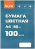 Бумага Buro A4/80г/м2/100л./белый матовое общего назначения(офисная) вид 1