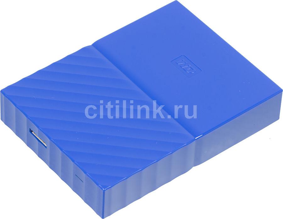 Внешний жесткий диск WD My Passport WDBUAX0040BBL-EEUE, 4Тб, синий