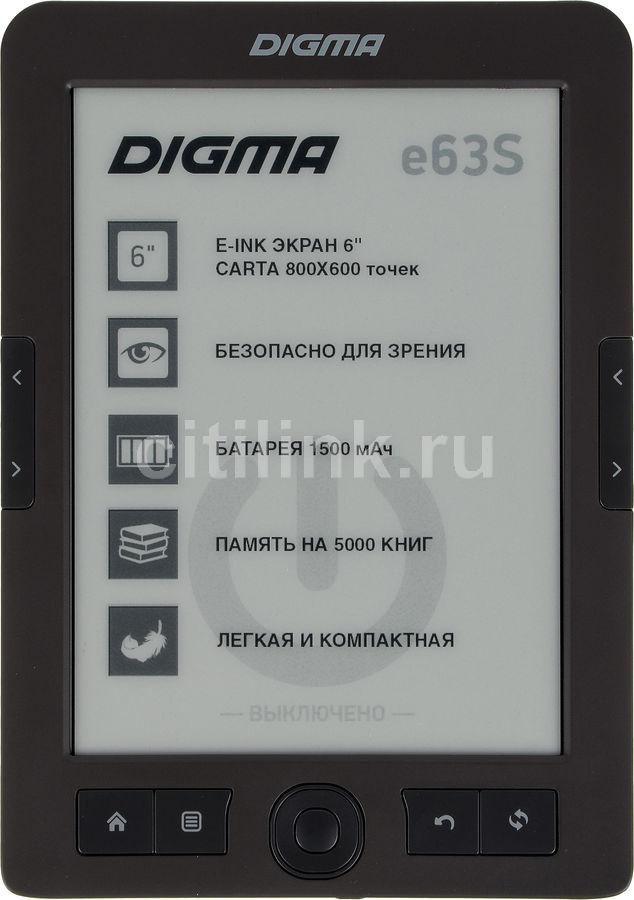 "Электронная книга DIGMA E63S,  6"", темно-серый"