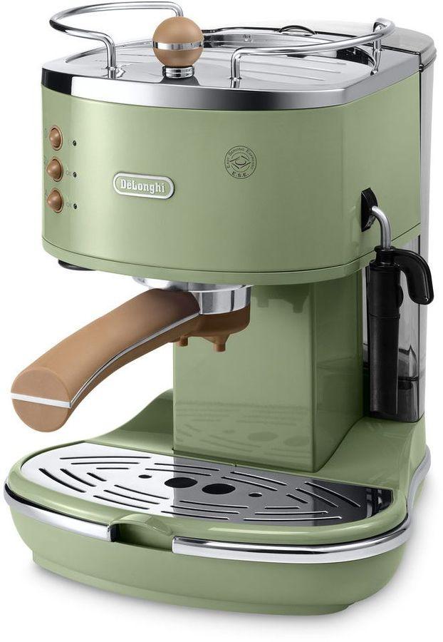 Кофеварка эспрессо Delonghi ECOV311.GR 1100Вт зеленый (отремонтированный)