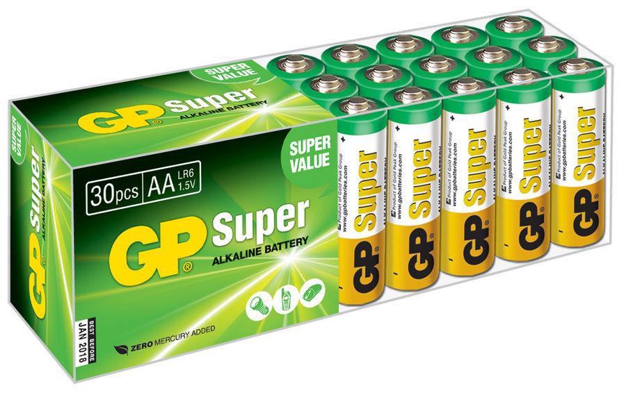 Батарея GP Super Alkaline 15A LR6,  30 шт. AA