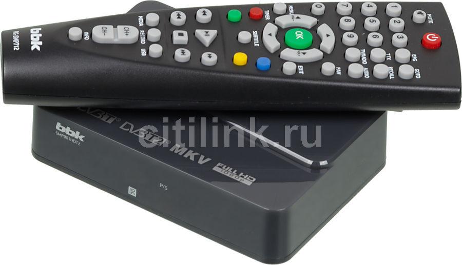 Ресивер DVB-T2 BBK SMP001HDT2 темно-серый (отремонтированный)