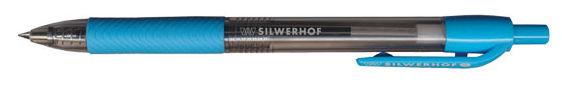 Ручка шариковая Silwerhof SNAZZY (026106-02) авт. 0.5мм резиновая манжета синие чернила коробка карт