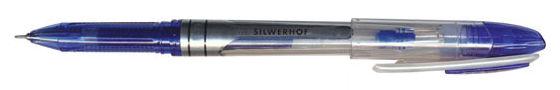 Ручка гелевая Silwerhof SABER (016062-02) 0.5мм игловидный пиш. наконечник синие чернила