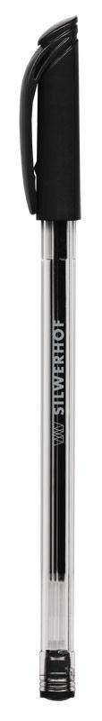Ручка шариковая Silwerhof BALANCE (026125-01) 0.7мм черн.на масл.основе черные чернила
