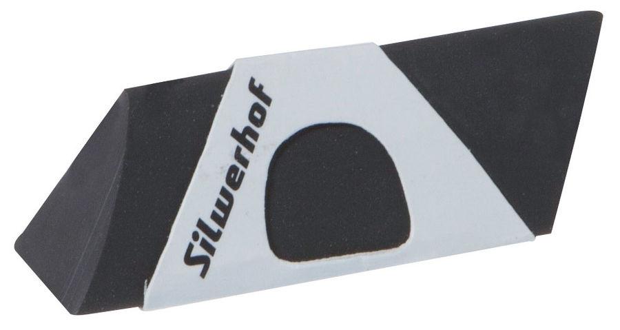 Ластик Silwerhof 181117 Пластилиновая коллекция 40x20x20мм каучук синтетический черный картонный дис