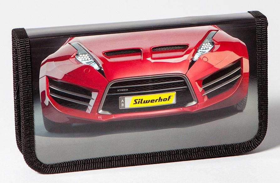 Пенал Silwerhof 850783 Красное авто 1отд. 190х110х28мм ламин.карт.