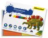 Пластилин Silwerhof 956148-08 Динозавры 8цв. 120гр. картон.кор. вид 1