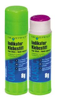 Клей-карандаш Silwerhof INDIKATOR 431408 8гр ПВП дисплей картонный цветной (исчезающий цвет)