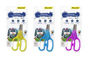 Ножницы Silwerhof 453079 Пластилиновая коллекция детские 135мм ручки пластиковые блистер