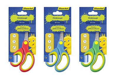 Ножницы Silwerhof 453086 Джинсовая коллекция детские 132мм ручки с резиновой вставкой
