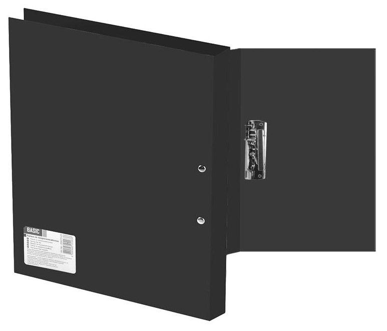 Папка с метал.зажим Silwerhof Basic 255073-01 A4 0.5мм черный