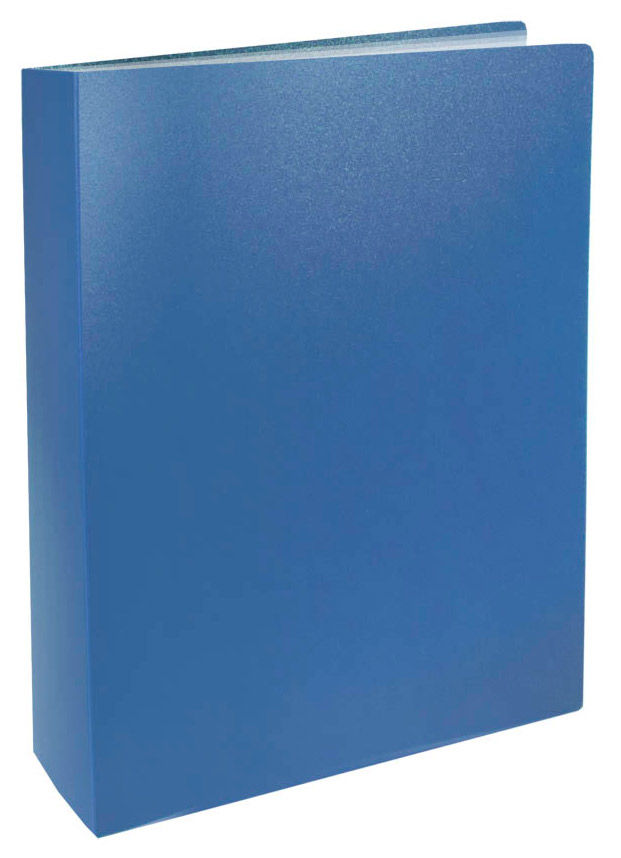 Папка с 80 прозр.вклад. Silwerhof Basic 255151-02 A4 0.8мм синий
