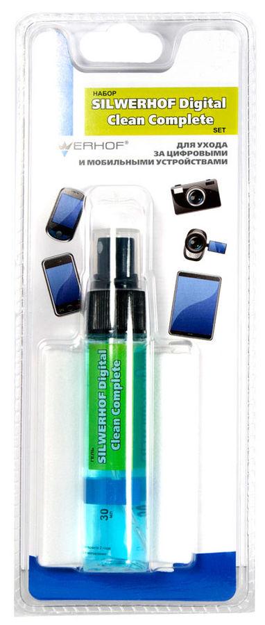 Чистящий набор для мобильных устройств, SILWERHOF DIGITAL CLEAN COMPLETE, гель 30мл+сафетки из микро [671212]