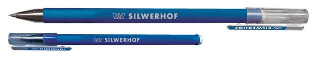 Ручка шариковая Silwerhof LINE (026094-02) 0.5мм синие чернила