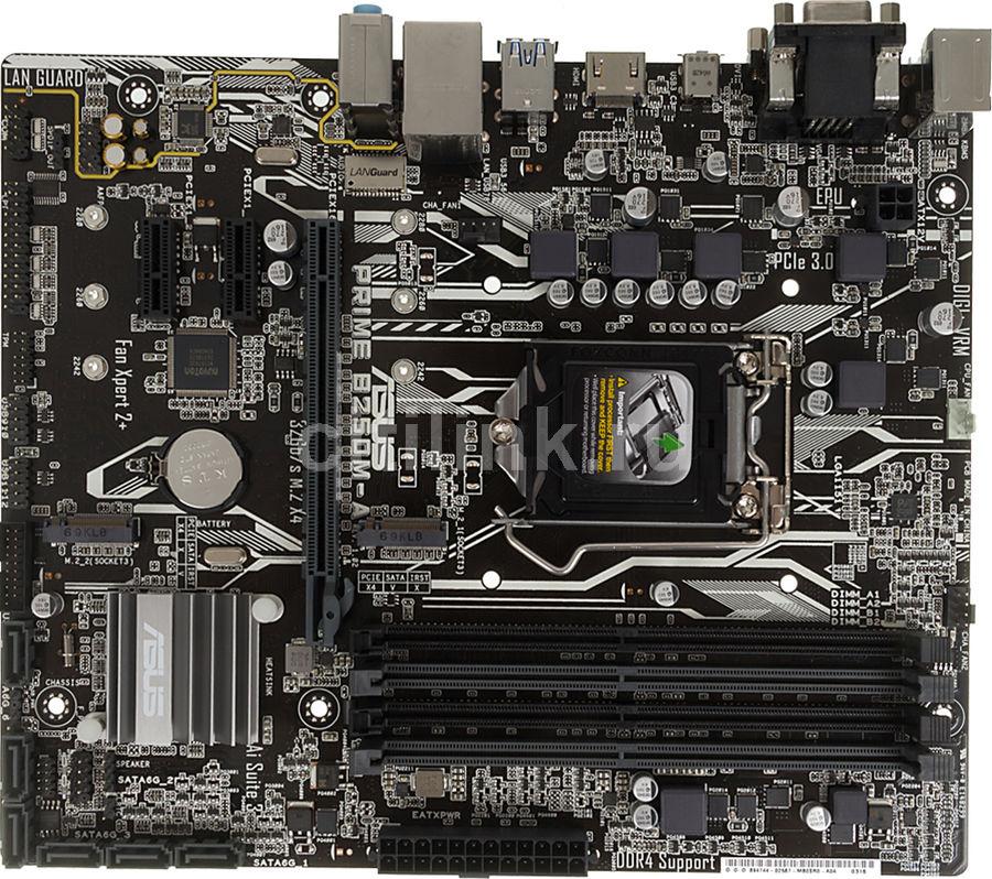 Материнская плата ASUS PRIME B250M-A, LGA 1151, Intel B250, mATX, Ret