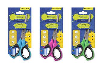 Ножницы Silwerhof 453085 Джинсовая коллекция детские 150мм ручки с резиновой вставкой ассорти блисте
