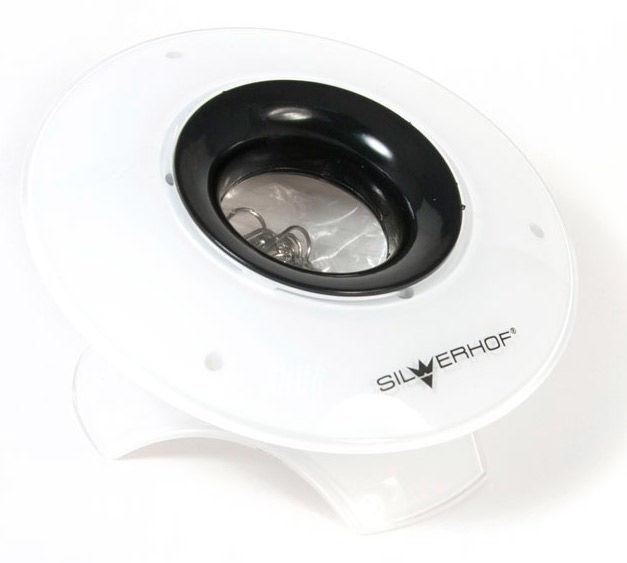 Подставка Silwerhof 563006 ICE для скрепок белый/черный пластик