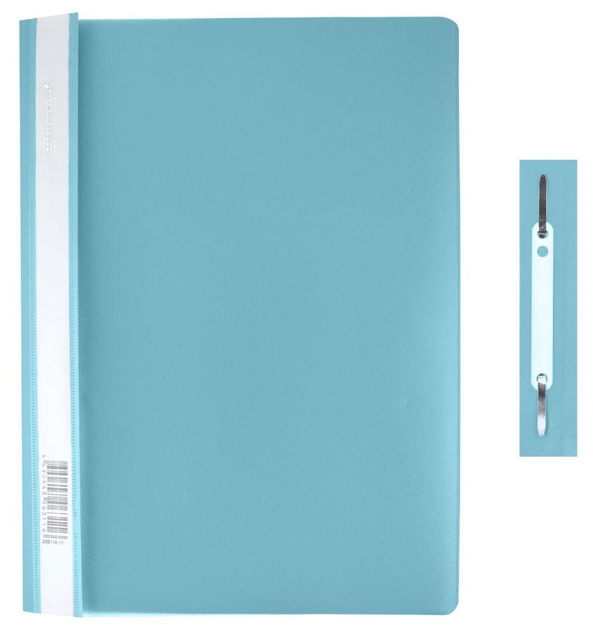 Папка-скоросшиватель Silwerhof Classic 255116-30 A4 прозрач.верх.лист полипропилен бирюзовый 0.12/0.