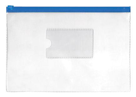 Папка на молнии ZIP Silwerhof Classic 255182-02 B5 ПВХ 0.11мм карм.для визит. цвет молнии синий