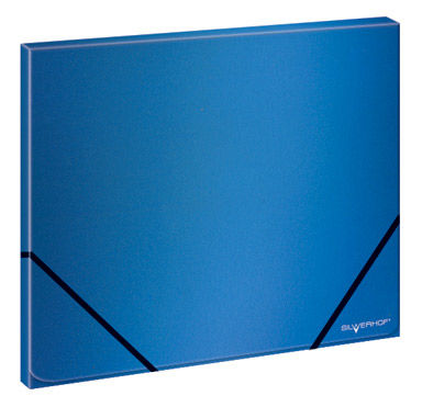 Папка на резинке Silwerhof Perlen 321931-74 A4 песок полипропилен 0.45мм синий металлик