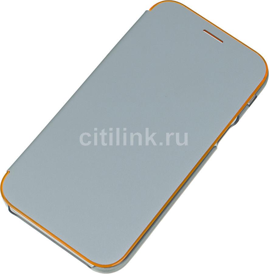 Чехол (флип-кейс) SAMSUNG Neon Flip Cover, для Samsung Galaxy A7 (2017), синий [ef-fa720plegru]