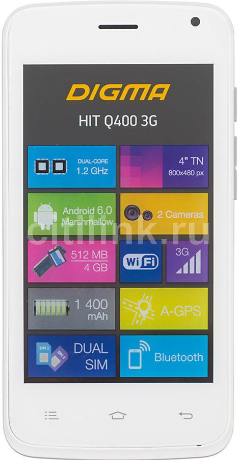 Смартфон DIGMA Q400 3G HIT,  белый