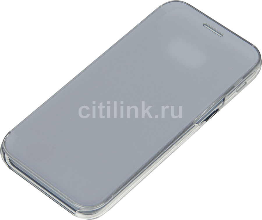 Чехол (флип-кейс) SAMSUNG Clear View Cover, для Samsung Galaxy A5 (2017), голубой [ef-za520clegru]