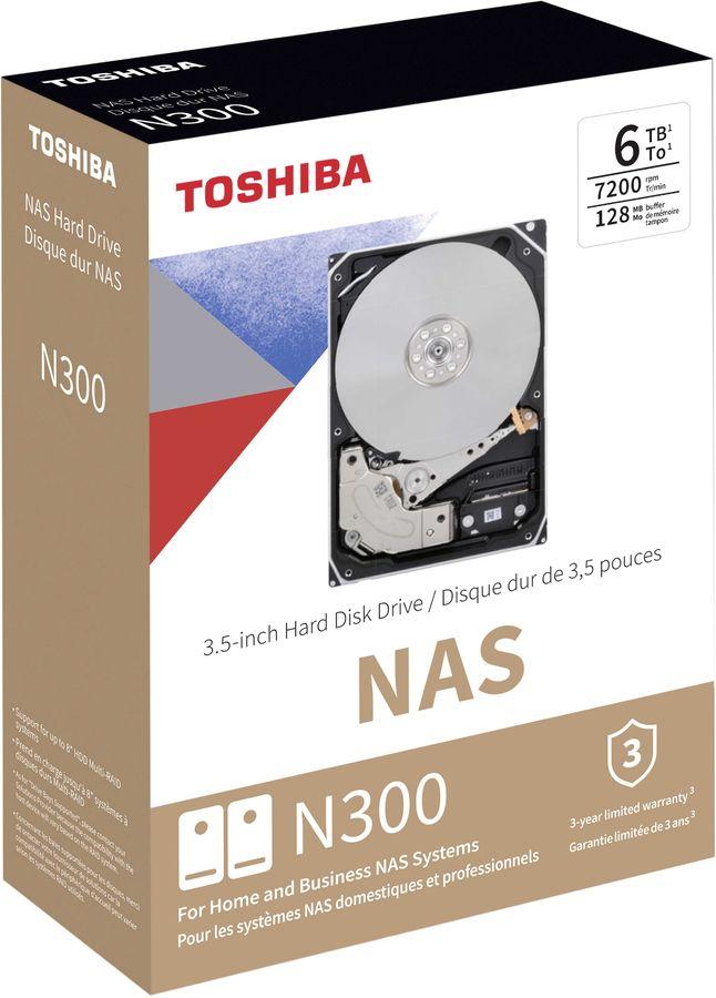 "Жесткий диск TOSHIBA N300 HDWN160EZSTA,  6Тб,  HDD,  SATA III,  3.5"""