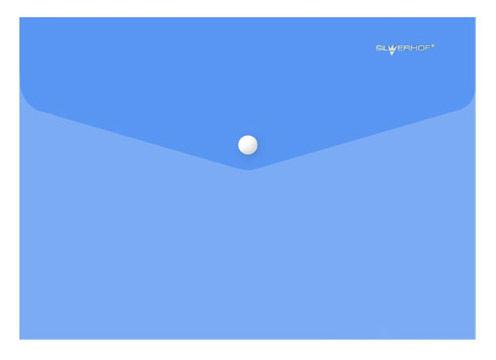Конверт на кнопке Silwerhof Classic 255134-02 A4 гориз. тисненый 0.15мм синий
