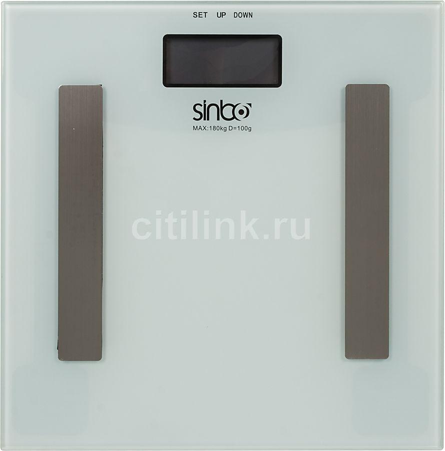 Напольные весы SINBO SBS 4432, до 180кг, цвет: белый