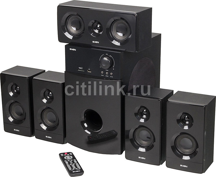 Колонки Sven HT-210 5.1 черный 125Вт (отремонтированный)