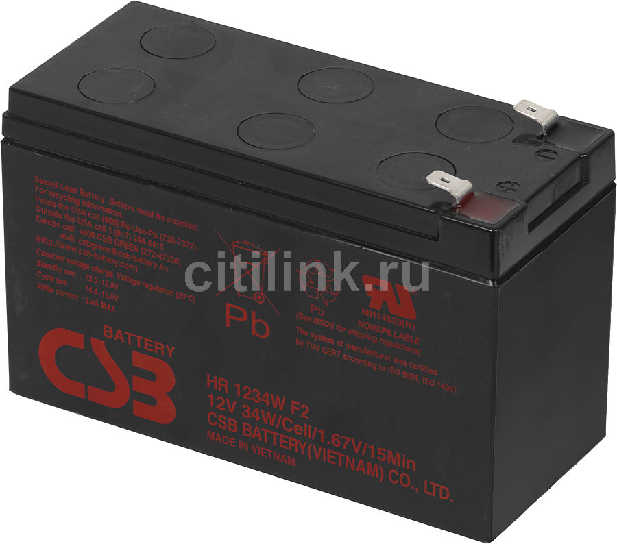 Батарея для ИБП CSB HR1234W  12В,  9Ач