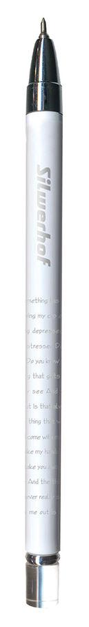 Ручка шариковая Silwerhof ARGENT (026098-02) 0.5мм игловидный пиш. наконечник корпус пластик синие ч