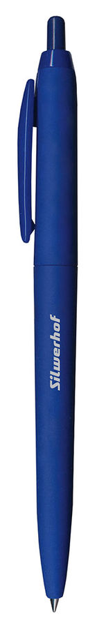 Ручка шариковая Silwerhof SKIFF (026099-02) авт. 0.5мм корпус пластик синие чернила коробка картонна