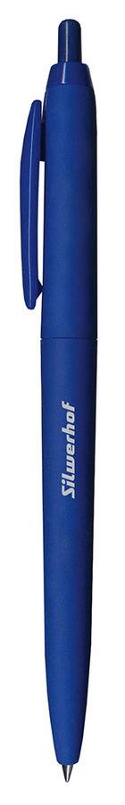 Ручка шариковая Silwerhof SKIFF (026118-02) авт. 0.5мм корпус пластик синие чернила индив. пакет с е