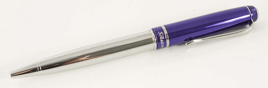Ручка шариковая Silwerhof IMAGE (025027) авт. корпус метал. синий синие чернила коробка подарочная