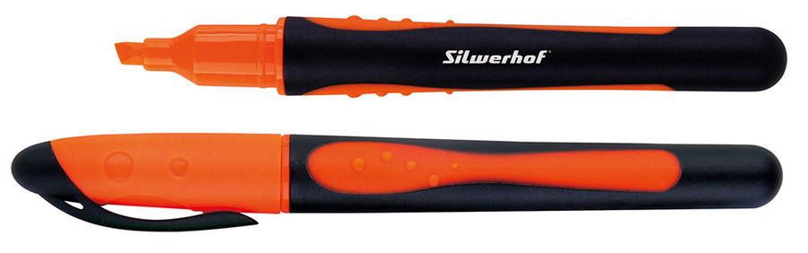 Текстовыделитель Silwerhof INTENS 108029-04 1-4мм резиновый грип оранжевый картон