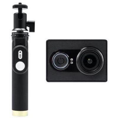 Экшн-камера XIAOMI YI Travel Edition (монопод+пульт),  Full HD 1080p,  WiFi,  черный