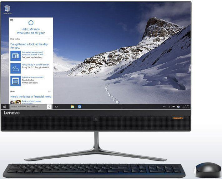 Моноблок LENOVO IdeaCentre 510-23ISH, Intel Core i3 7100T, 4Гб, 1000Гб, Intel HD Graphics 630, DVD-RW, Windows 10, черный [f0cd00derk]