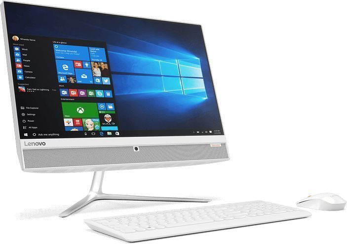 Моноблок LENOVO IdeaCentre 510-23ISH, Intel Core i3 7100T, 4Гб, 1000Гб, Intel HD Graphics 630, DVD-RW, Windows 10, белый [f0cd00dfrk]