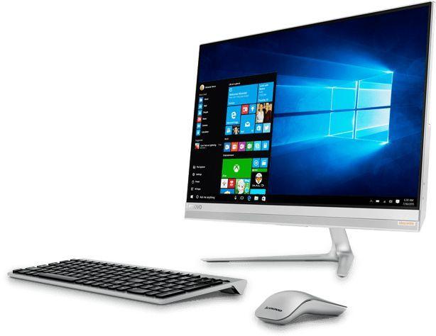 Моноблок LENOVO IdeaCentre 520S-23IKU, Intel Core i5 7200U, 4Гб, 256Гб SSD,  Intel HD Graphics 620, Windows 10, серебристый [f0cu0028rk]