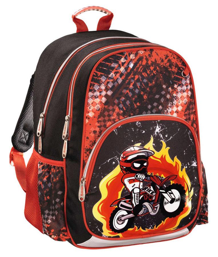 Рюкзак Hama MOTORBIKE черный/красный [00139086]